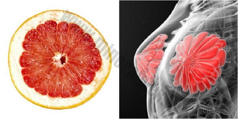 foto di arancia e mammella